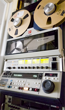 Photo of reel to reel recorder